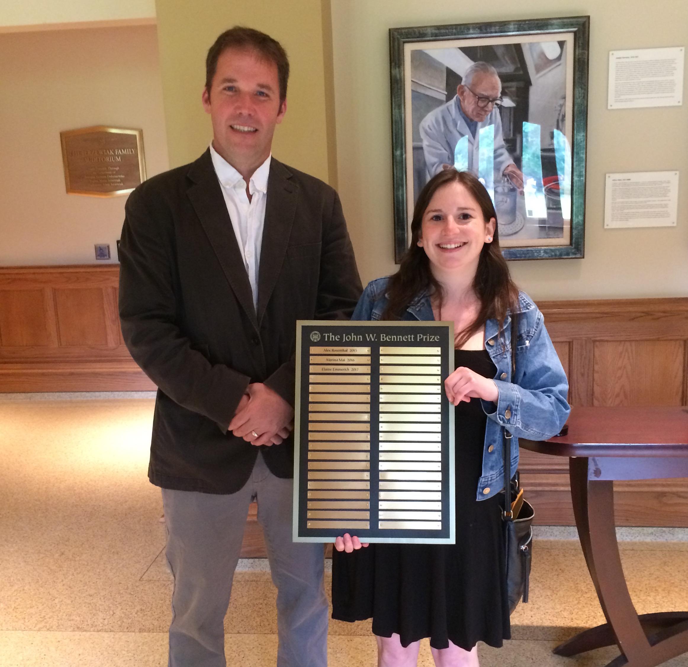 Elaine Emmerich accepting an award
