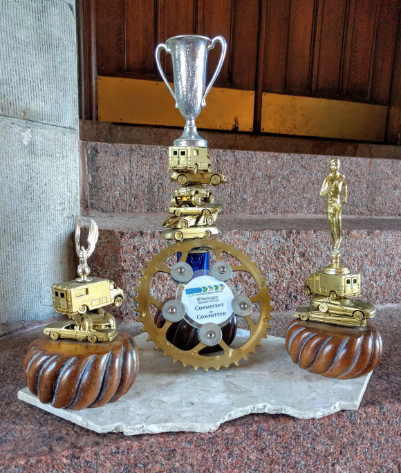 ATM Trophy currently displayed in department office
