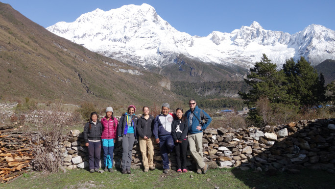 Associate Professor EA Quinn and Professor Geoff Childs with research team in Nepal