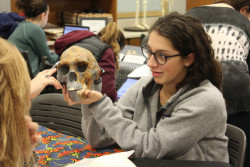 Students participating in the annual Fossil Lab