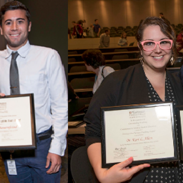 Anthropology faculty honored by medical school students
